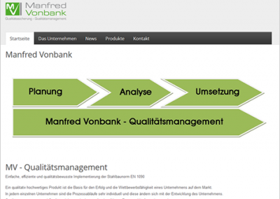 Manfred Vonbank – Qualitätsmanagement